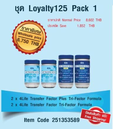 ชุด Loyalty125 Pack 1